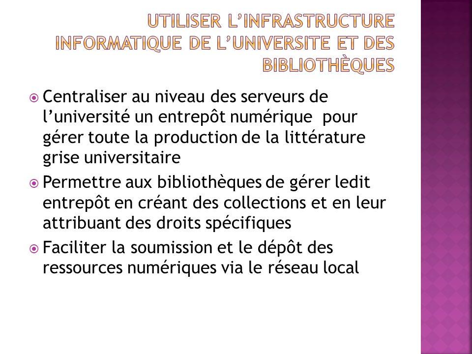 Utiliser l'infrastructure informatique de l'universite et des bibliothèques