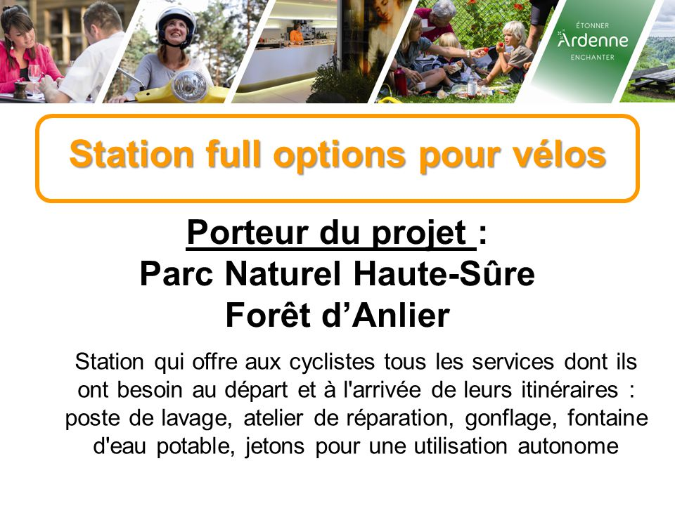 Station full options pour vélos Parc Naturel Haute-Sûre