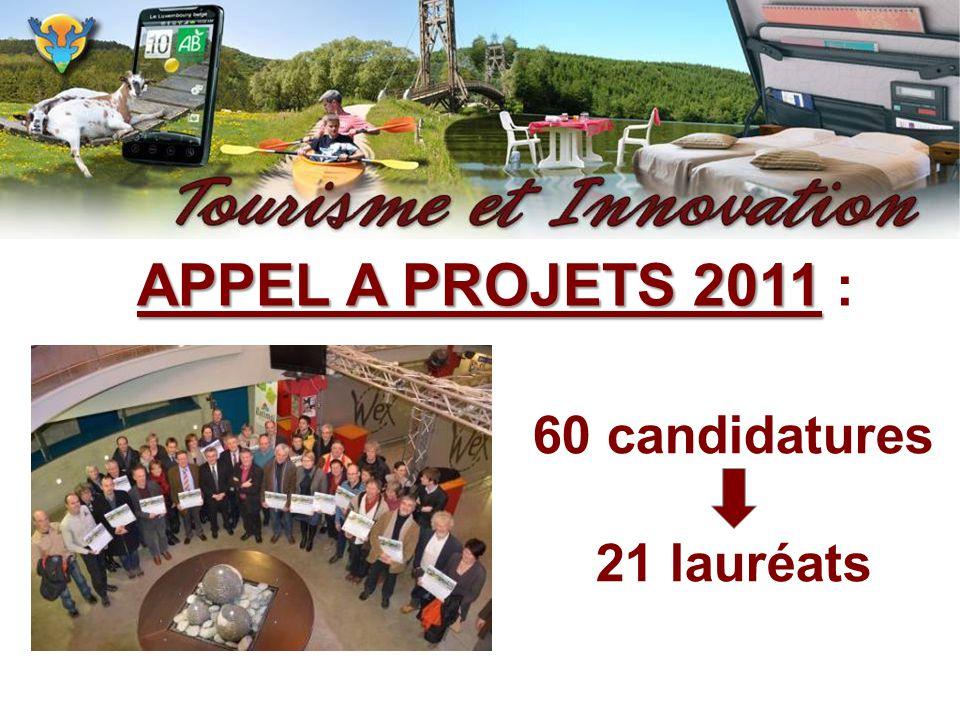 APPEL A PROJETS 2011 : 60 candidatures 21 lauréats