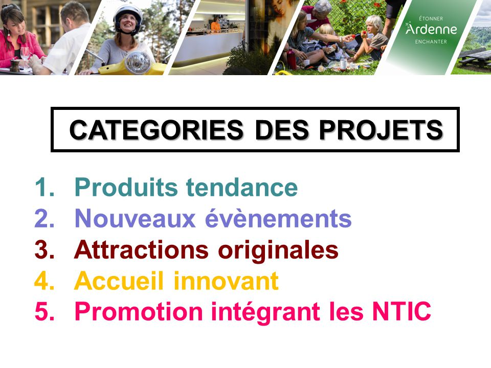 CATEGORIES DES PROJETS