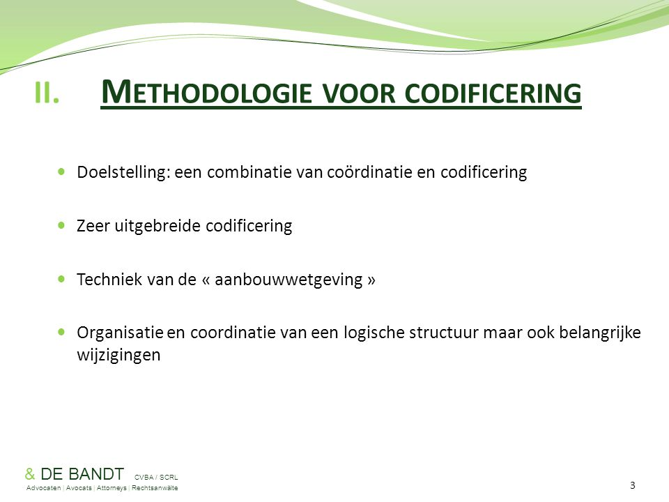 II. Methodologie voor codificering