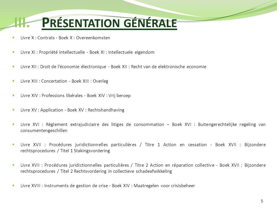 III. Présentation générale