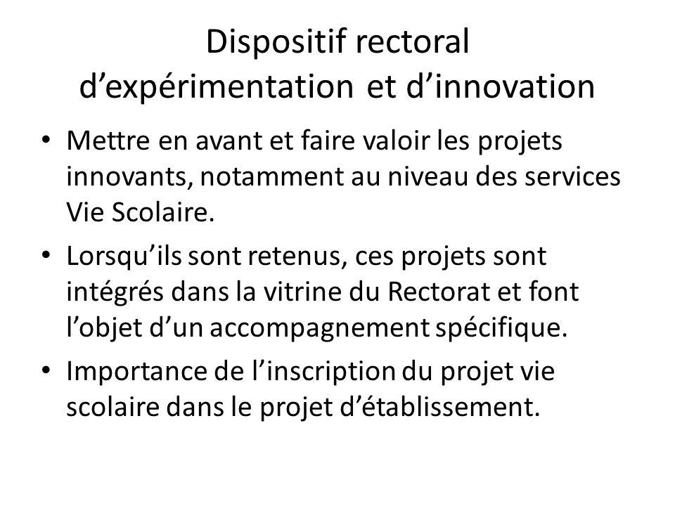 Dispositif rectoral d'expérimentation et d'innovation