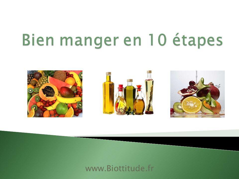 Bien manger en 10 étapes www.Biottitude.fr