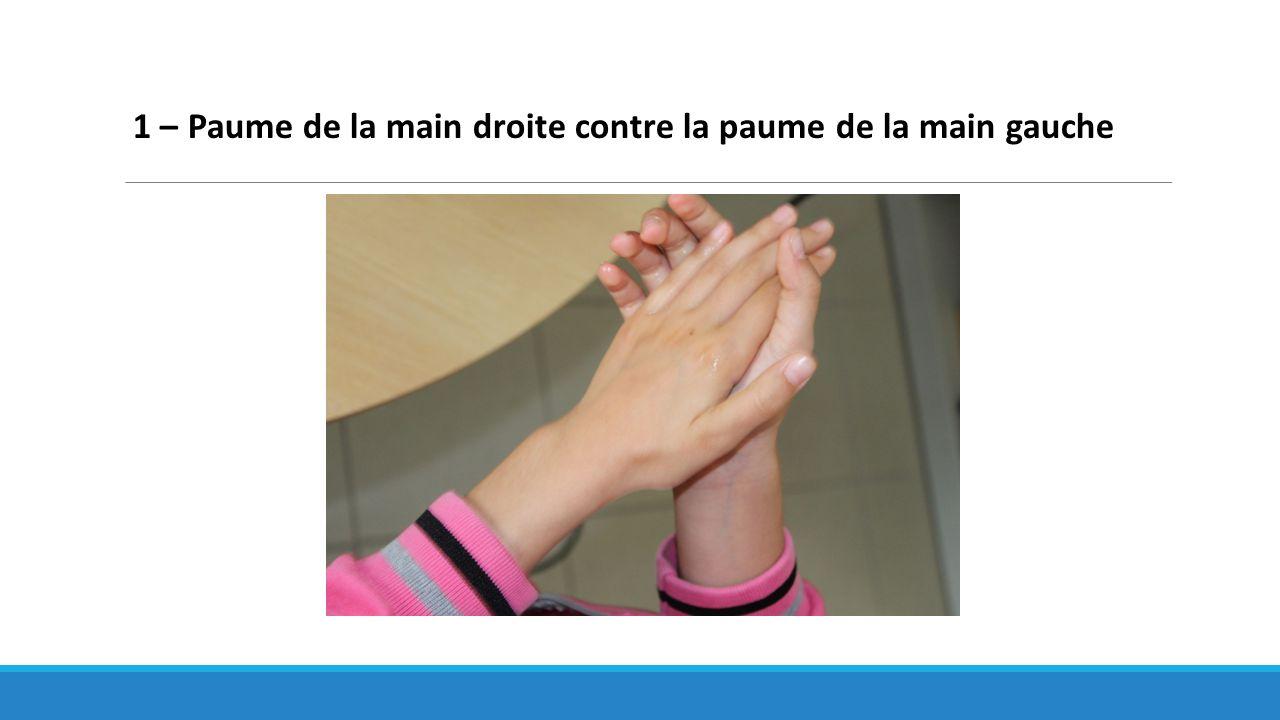 1 – Paume de la main droite contre la paume de la main gauche