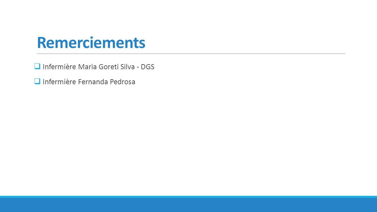Remerciements Infermière Maria Goreti Silva - DGS