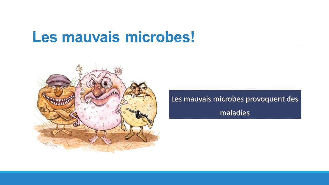 Les mauvais microbes provoquent des maladies