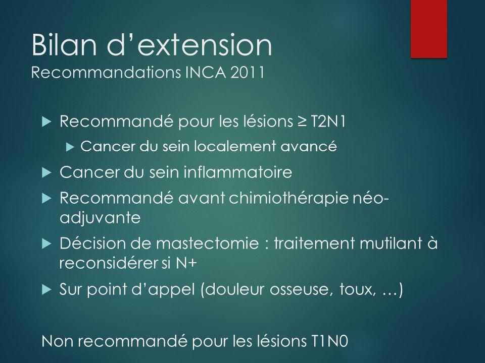 Bilan d'extension Recommandations INCA 2011