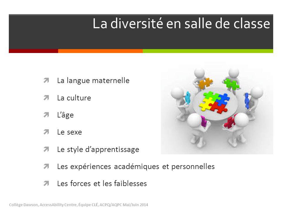 La diversité en salle de classe