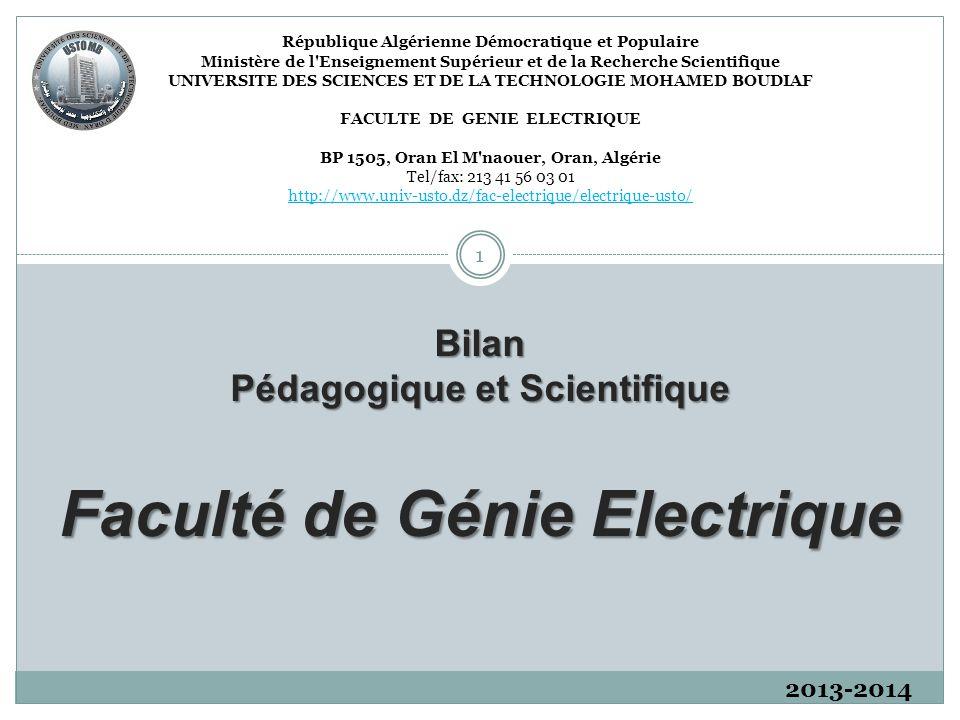 Faculté de Génie Electrique