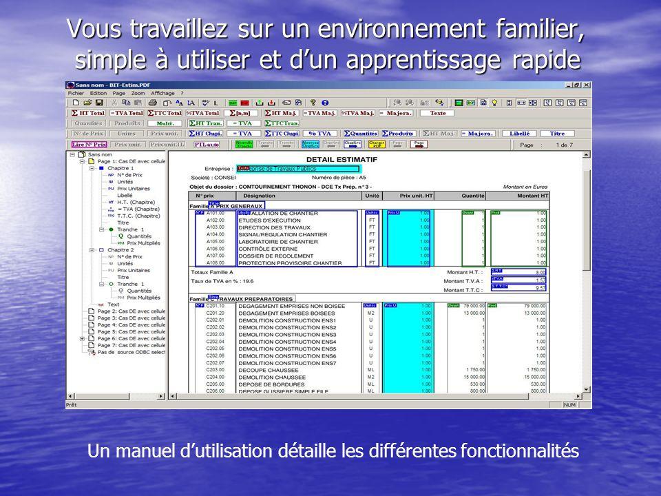 Un manuel d'utilisation détaille les différentes fonctionnalités