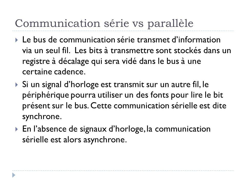Communication série vs parallèle