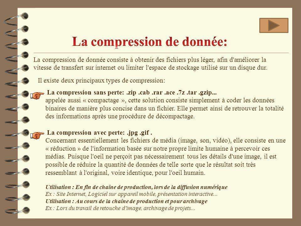 La compression de donnée: