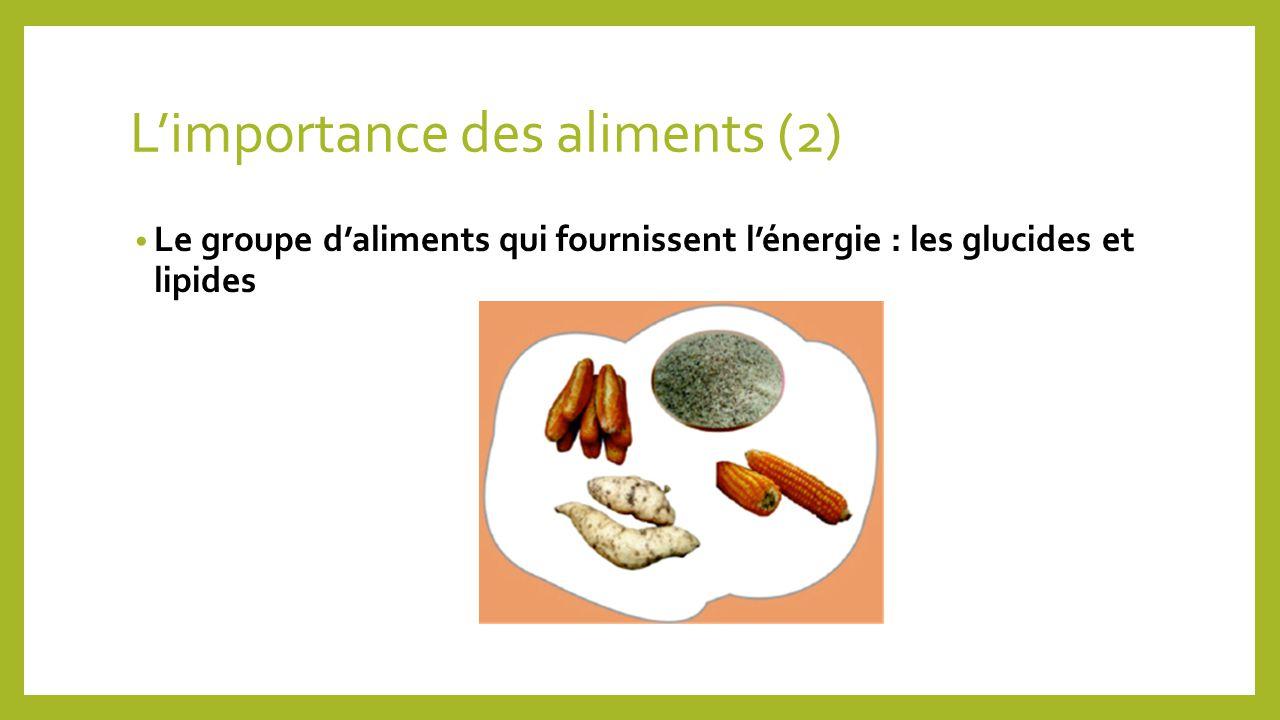 L'importance des aliments (2)