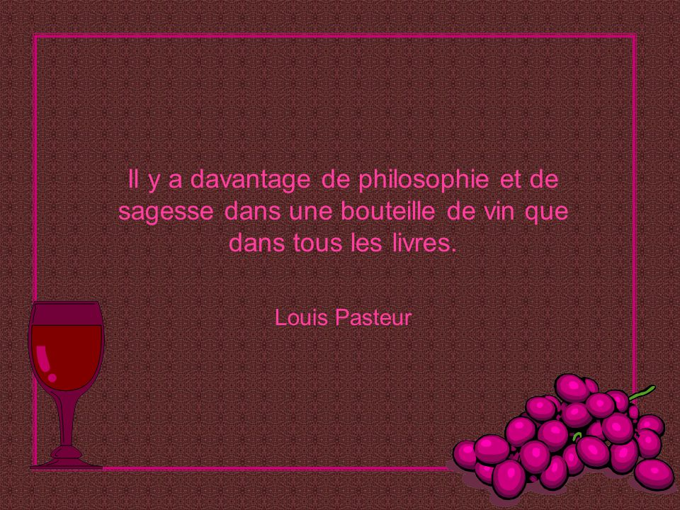 Il y a davantage de philosophie et de sagesse dans une bouteille de vin que dans tous les livres.