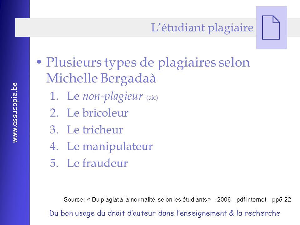 Plusieurs types de plagiaires selon Michelle Bergadaà