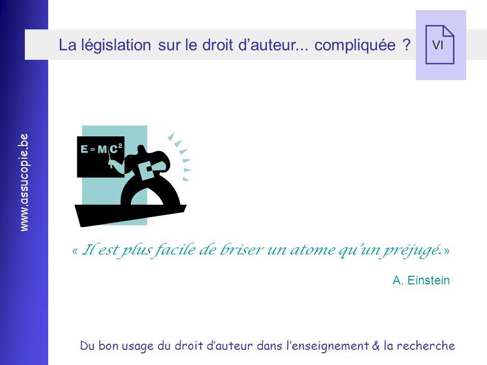 La législation sur le droit d'auteur... compliquée