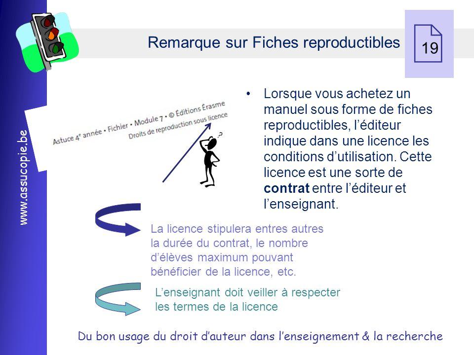 Remarque sur Fiches reproductibles 19