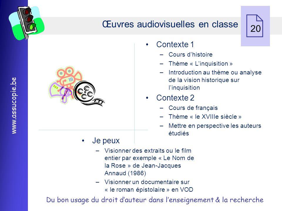 Œuvres audiovisuelles en classe 20
