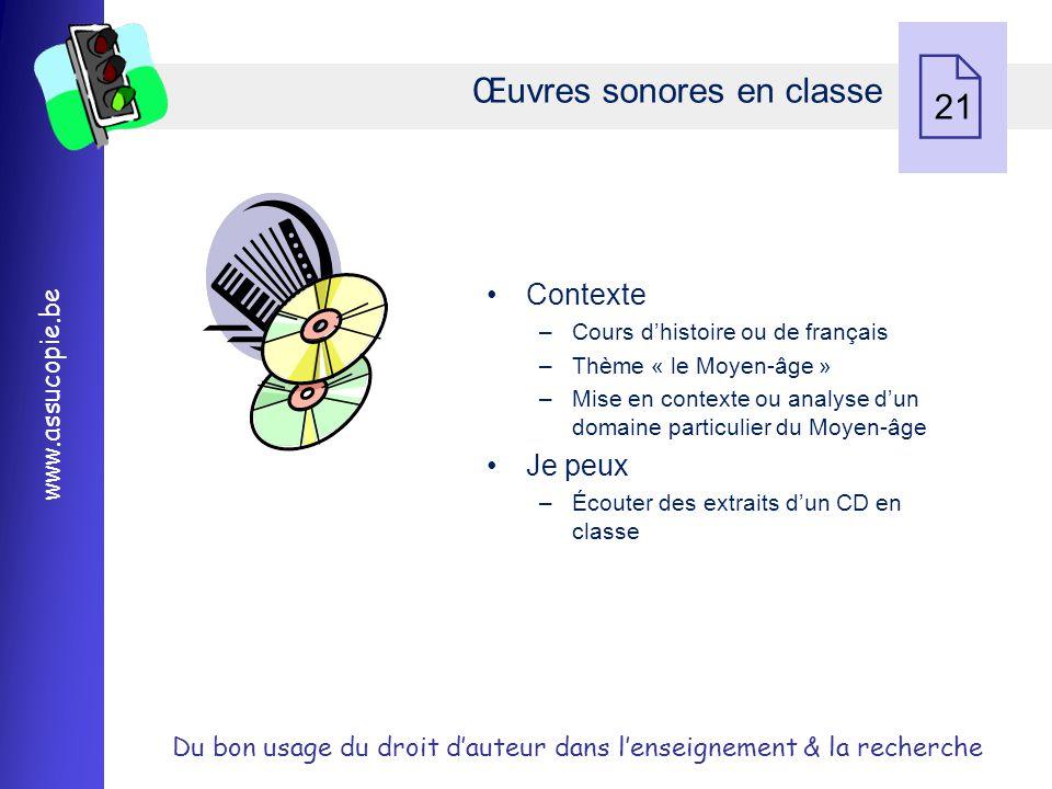 Œuvres sonores en classe 21