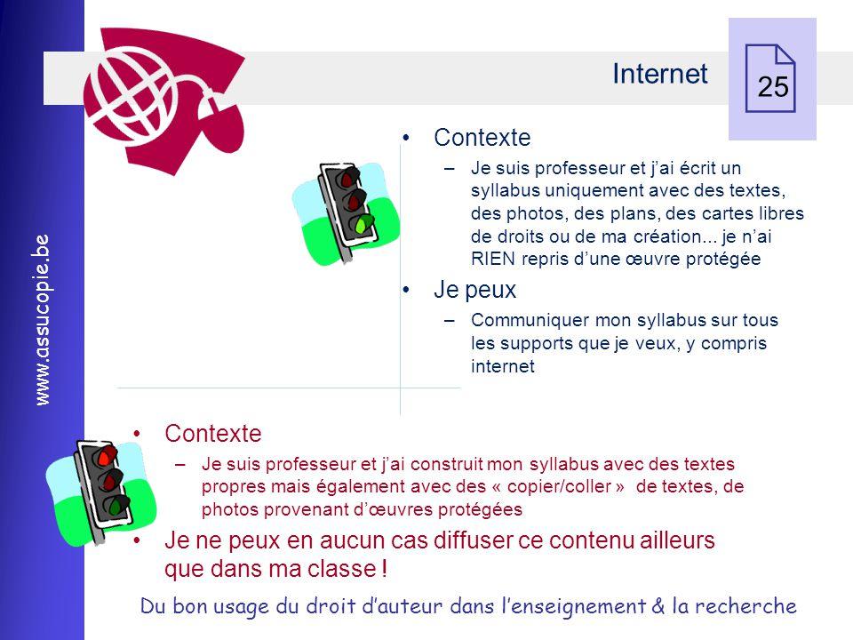 Internet 25 Contexte Je peux Contexte