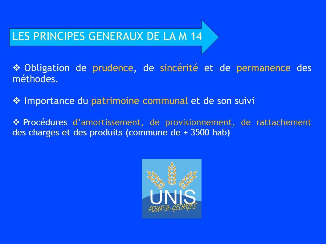LES PRINCIPES GENERAUX DE LA M 14