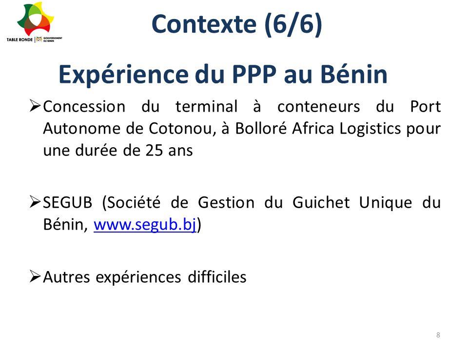 Expérience du PPP au Bénin