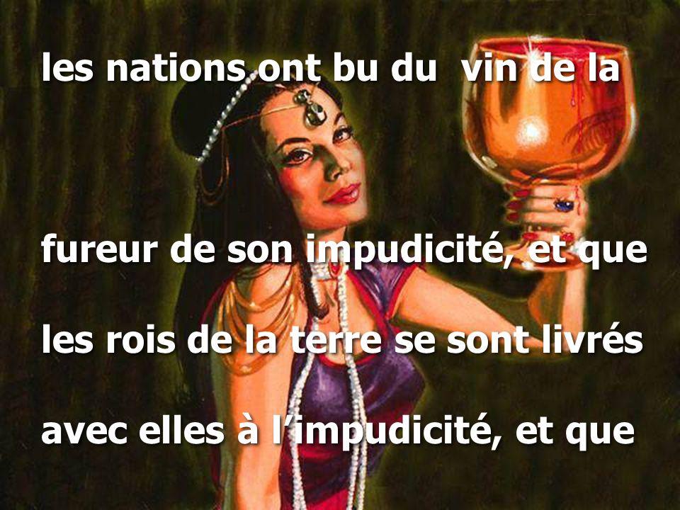 les nations ont bu du vin de la