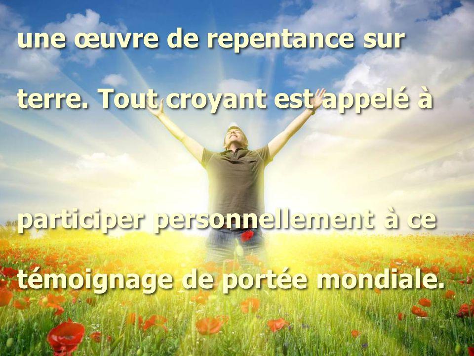 une œuvre de repentance sur