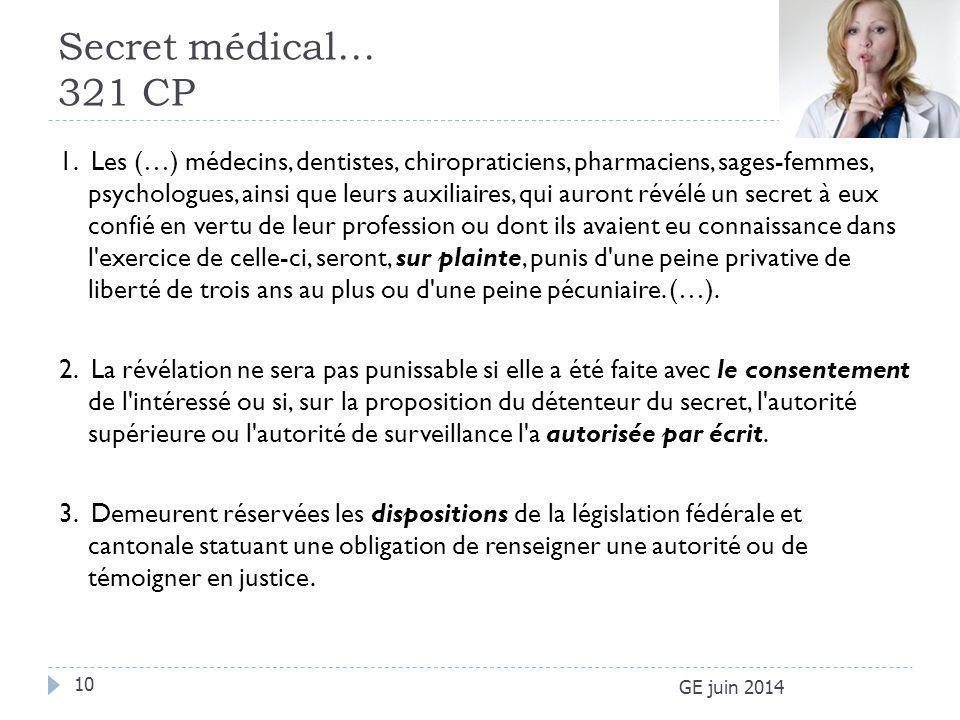 Secret médical… 321 CP