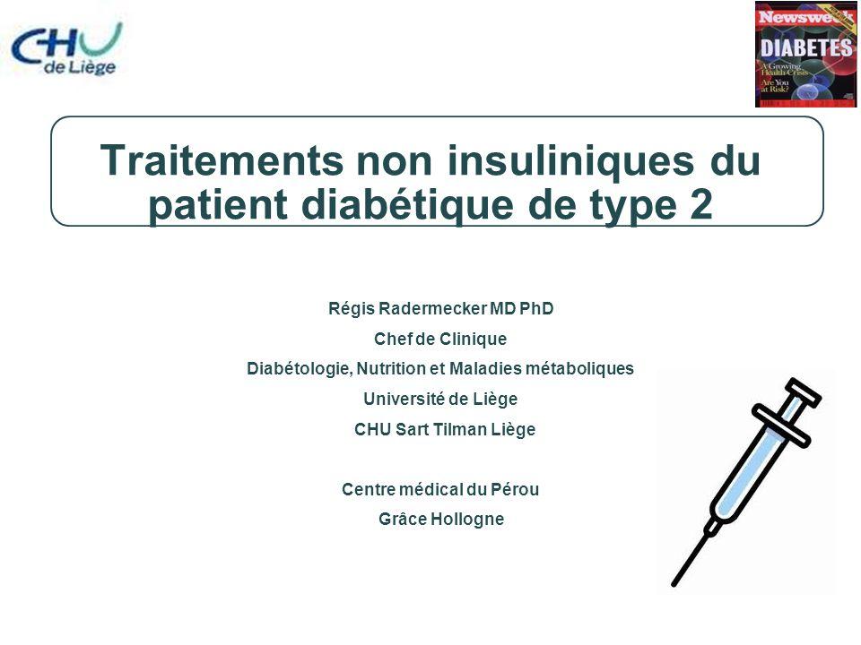 Traitements non insuliniques du patient diabétique de type 2