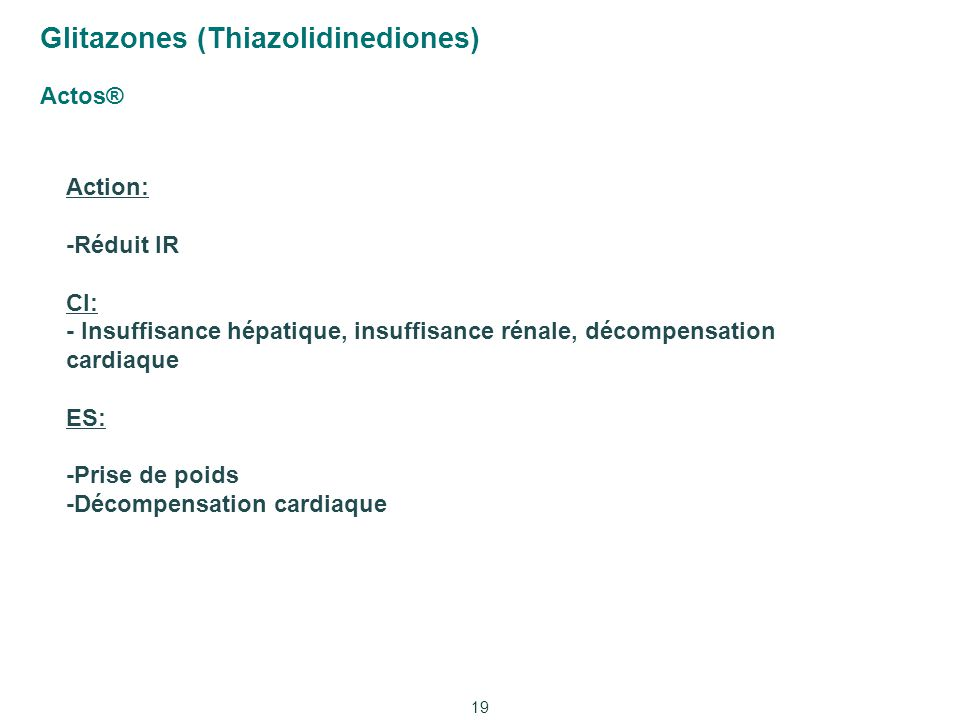 Glitazones (Thiazolidinediones) Actos®