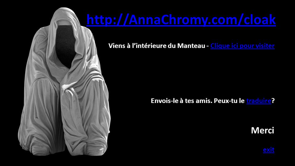 http://AnnaChromy.com/cloak Merci