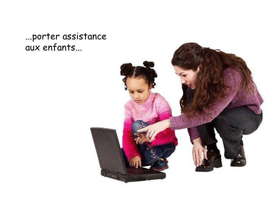 ...porter assistance aux enfants...