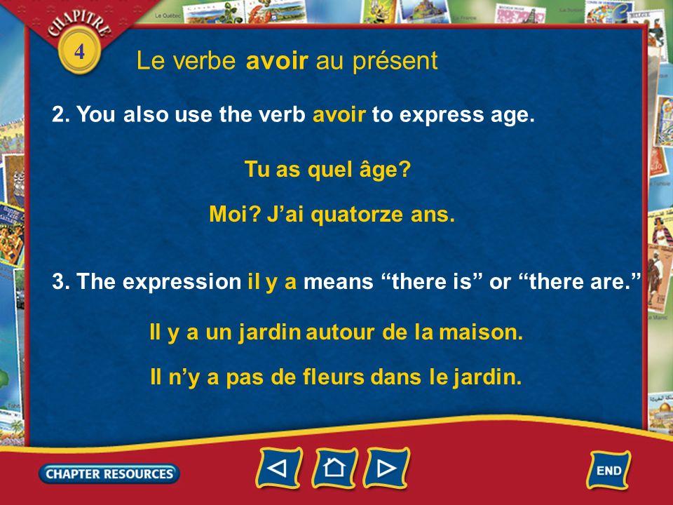 Le verbe avoir au présent