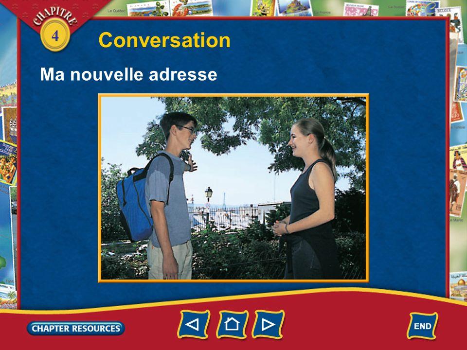 Conversation Ma nouvelle adresse