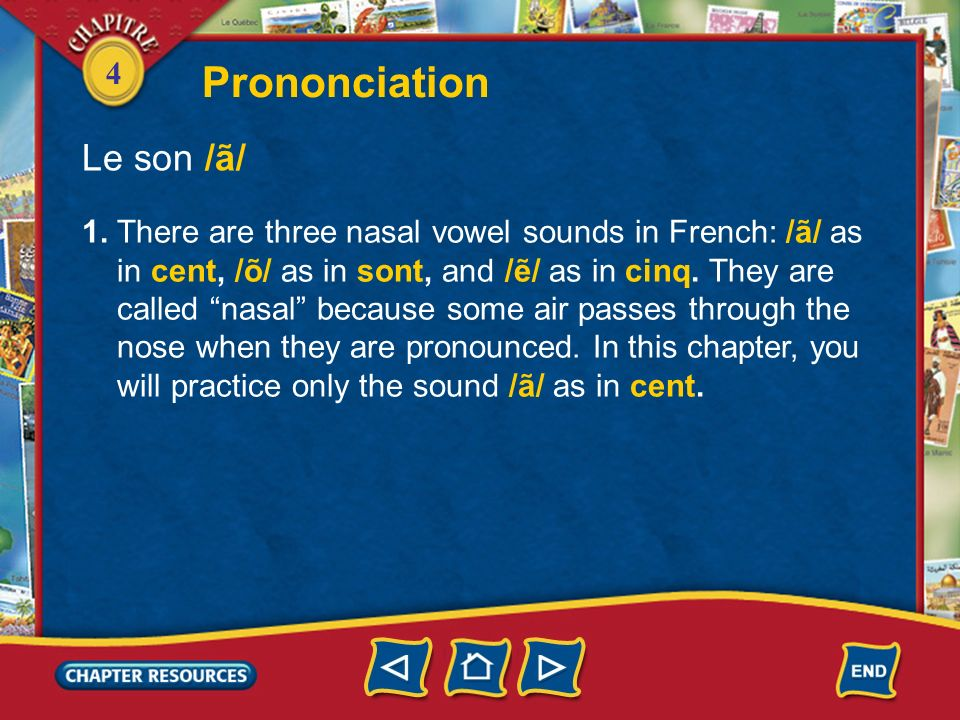 Prononciation Le son /ã/
