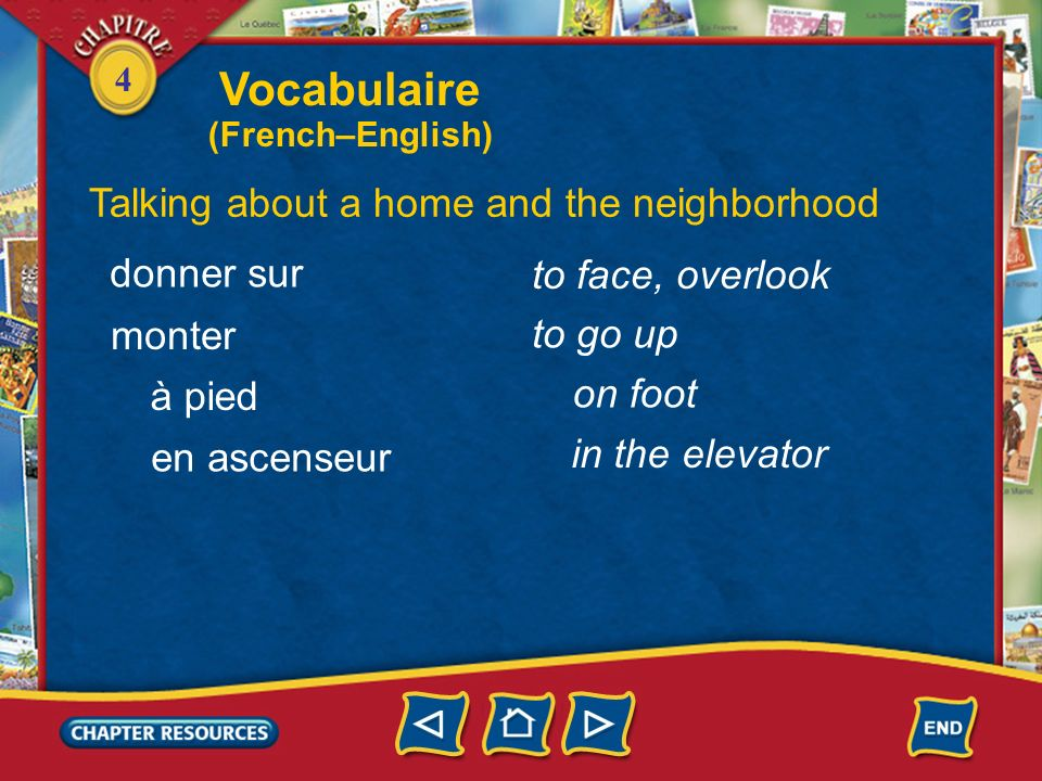 Vocabulaire Talking about a home and the neighborhood donner sur