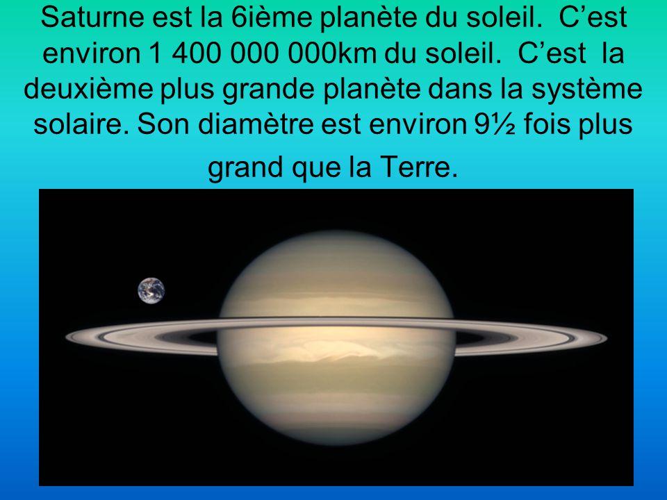 Saturne est la 6ième planète du soleil