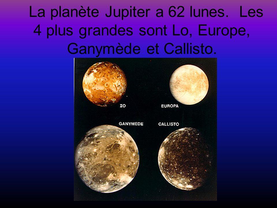 La planète Jupiter a 62 lunes