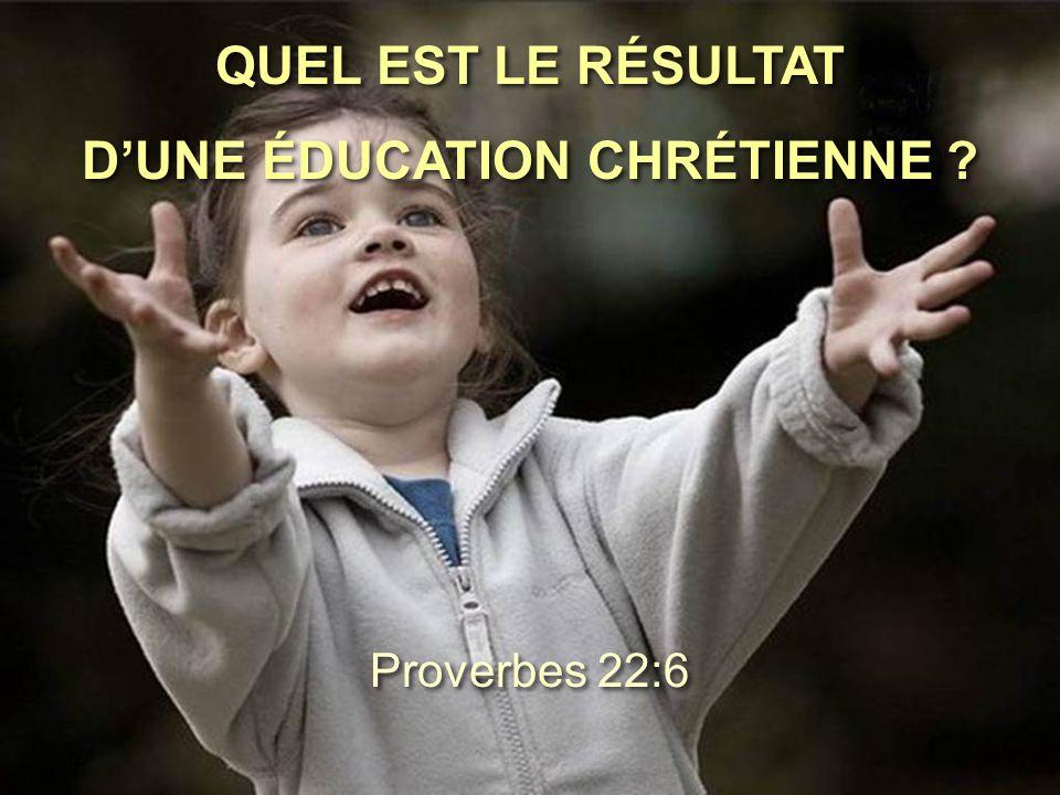 D'UNE ÉDUCATION CHRÉTIENNE