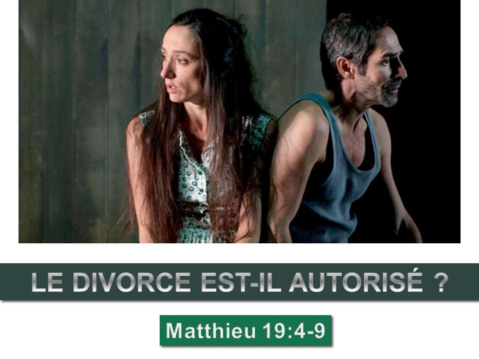 LE DIVORCE EST-IL AUTORISÉ