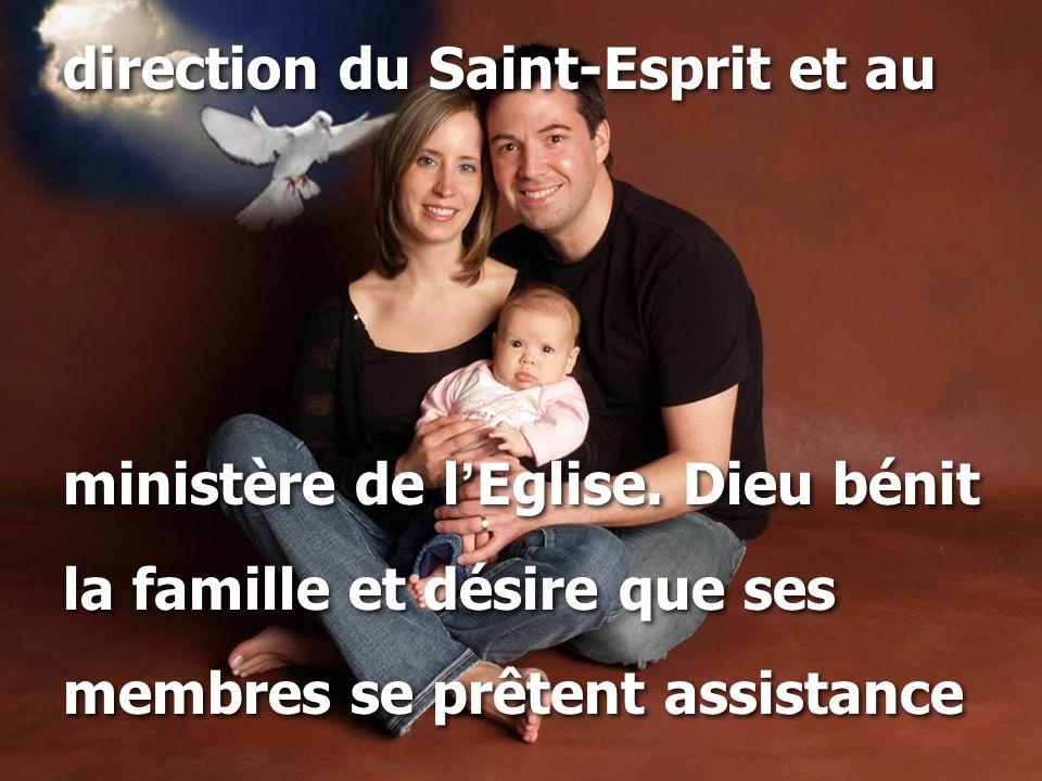direction du Saint-Esprit et au