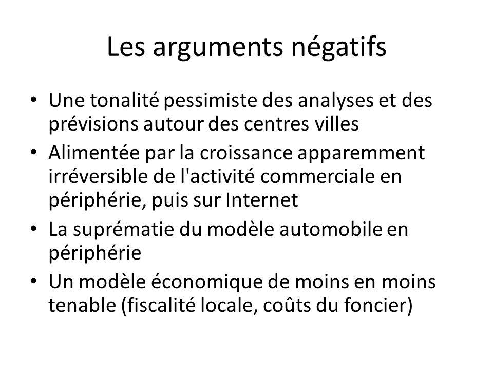 Les arguments négatifs