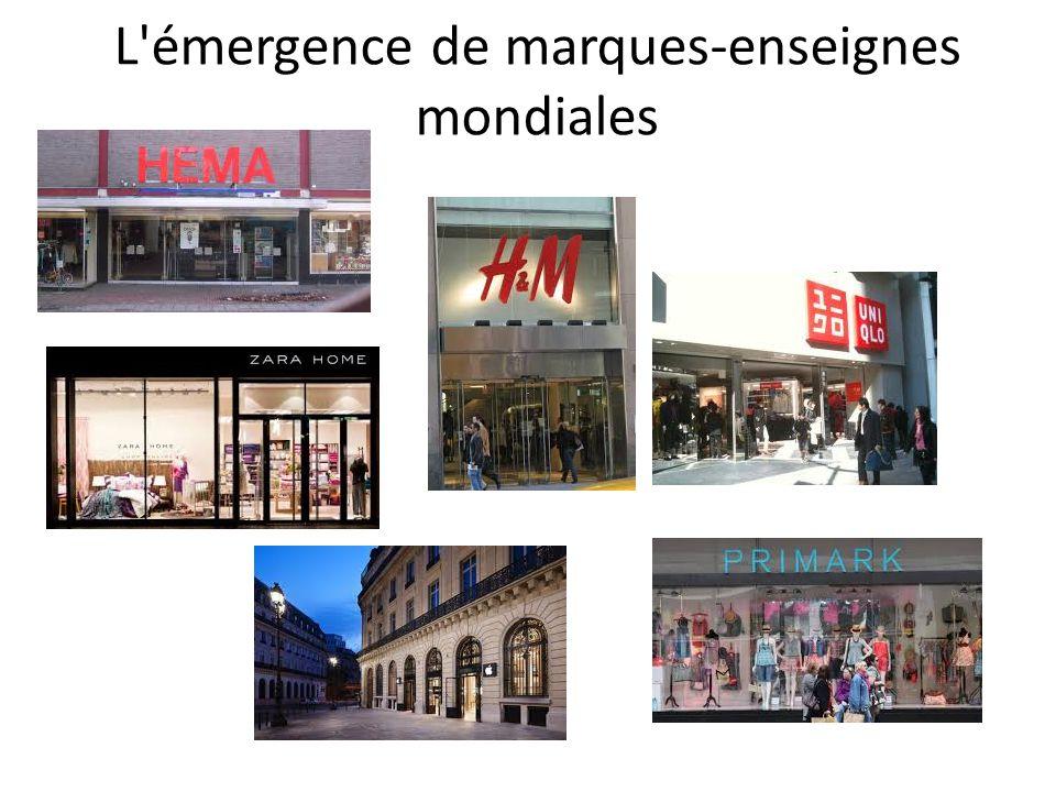 L émergence de marques-enseignes mondiales