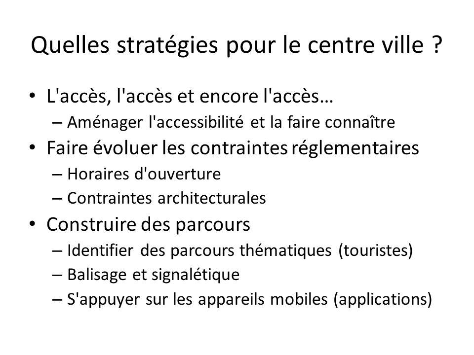 Quelles stratégies pour le centre ville