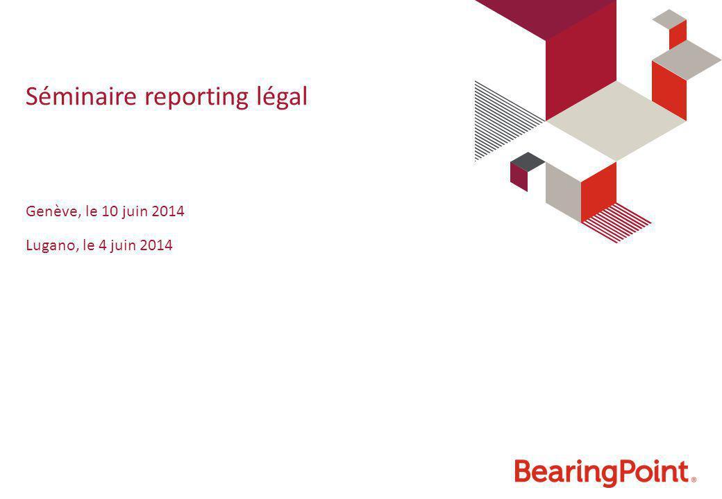 Séminaire reporting légal