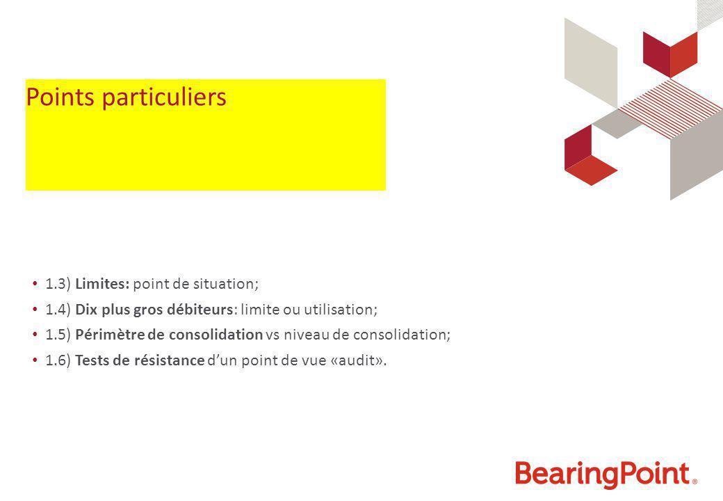Points particuliers 1.3) Limites: point de situation;