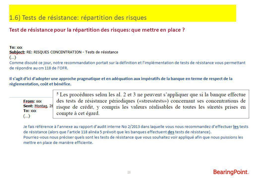 1.6) Tests de résistance: répartition des risques