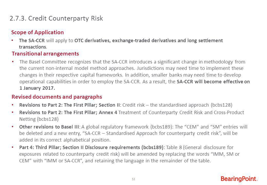 2.7.3. Credit Counterparty Risk